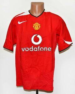 Manchester United Inghilterra 2004/2005/2006 Calcio Casa maglietta jersey Nike taglia XL