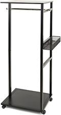 Joy Mangano Ultimate Black Closet Rolling Rack