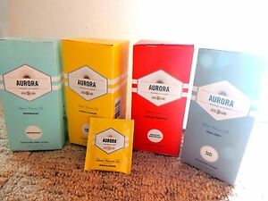1 X 25 TEA BAGS BY AURORA - LEMON & GINGER, GREEN, EARL GREY, PEPPERMINT & MORE!