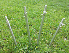 Bankstick set up set 0f 4 with 3  bases (spike powerdrive or stage stand stand)