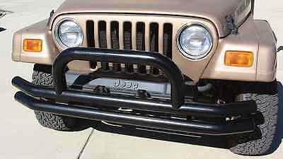 Rampage 8620 Tube Front Bumper Black for 1976-2006 Jeep CJ, Wrangler & Unlimited