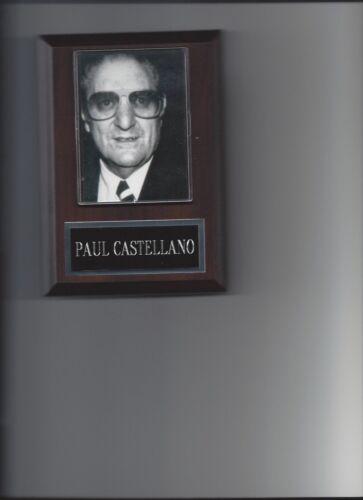 PAUL CASTELLANO PLAQUE MAFIA ORGANIZED CRIME MOBSTER MOB