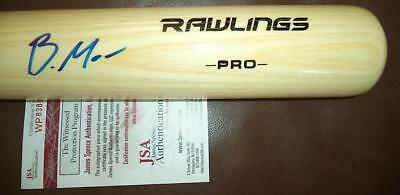 Balls Modest Brandon Marsh Angels Rawlings Pro Model Signed Auto Blonde Bat Jsa Wp838076