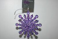 Ty Pennington Style Purple Jeweled Jubilee Snowflake Ornament