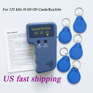 Portable Handheld Card Writer/Copier Duplicator for RFID 125KHz Cards/Keyfobs