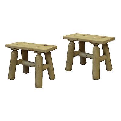 Cedar Log Adirondack Chair