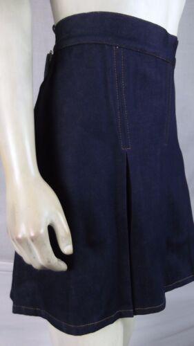 123 U.S.A Blue School Girl Cheerleader Jean Skirt Skort Shorts jr  Large 11 13