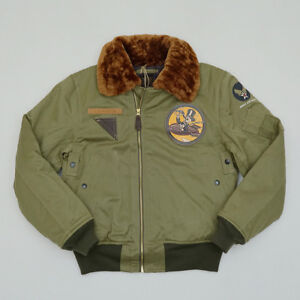 BOB-DONG-USAAF-B-15A-Flight-Jacket-Vintage-US-Army-Men-039-s-Bomber-Flying-Coat-B-15