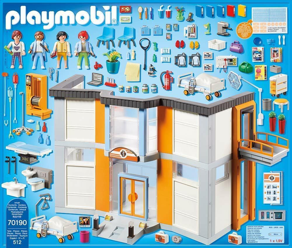 Playmobil 70190 Stadt Life Großes Krankenhaus mit Einrichtung