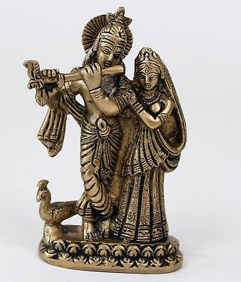 TOLLE KRISHNA UND RADHA STATUE 14 CM HOCH HIMALAYA BUDDHA  YOGA MEDITATION