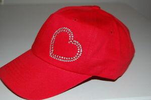 Rhinestone-Heart-Cap-Low-Profile-amp-Cadet-Caps