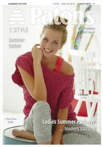 731a45dd94730 VAT Free Knitting PATTERN ONLY Patons Ladies Summer Pullover Jumper ...