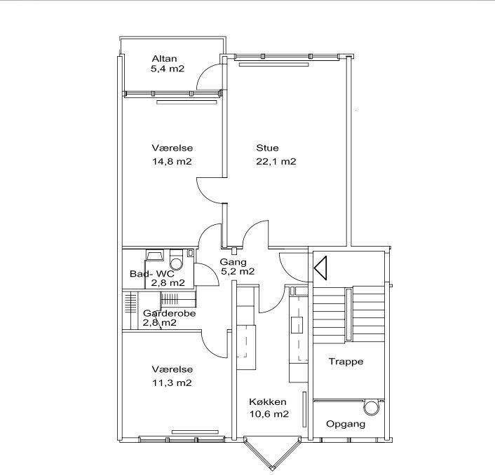 2750 3 vær. lejlighed, 85 m2, Baltorpvej