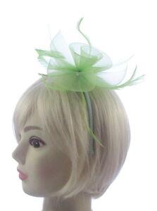 Image is loading Pastel-light-green-fascinator-on-a-headband-Weddings- 1da8ef14d75
