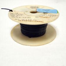 25ft 18awg Black Tfe Teflon 1930 Strand Silver Plate Copper Audio Wire Mil Spec