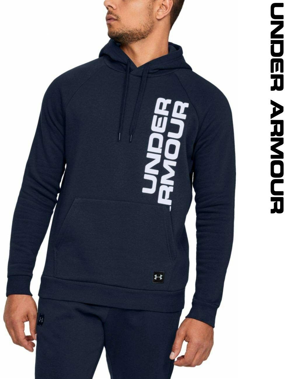 Under Armour UA Rival Fleece Script Men's Hoodie Lightweight Sports 1322028-408