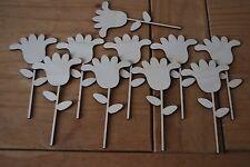 Set 10 pezzi di forma un piccolo fiore Bella Decorazione m3 per decoupage