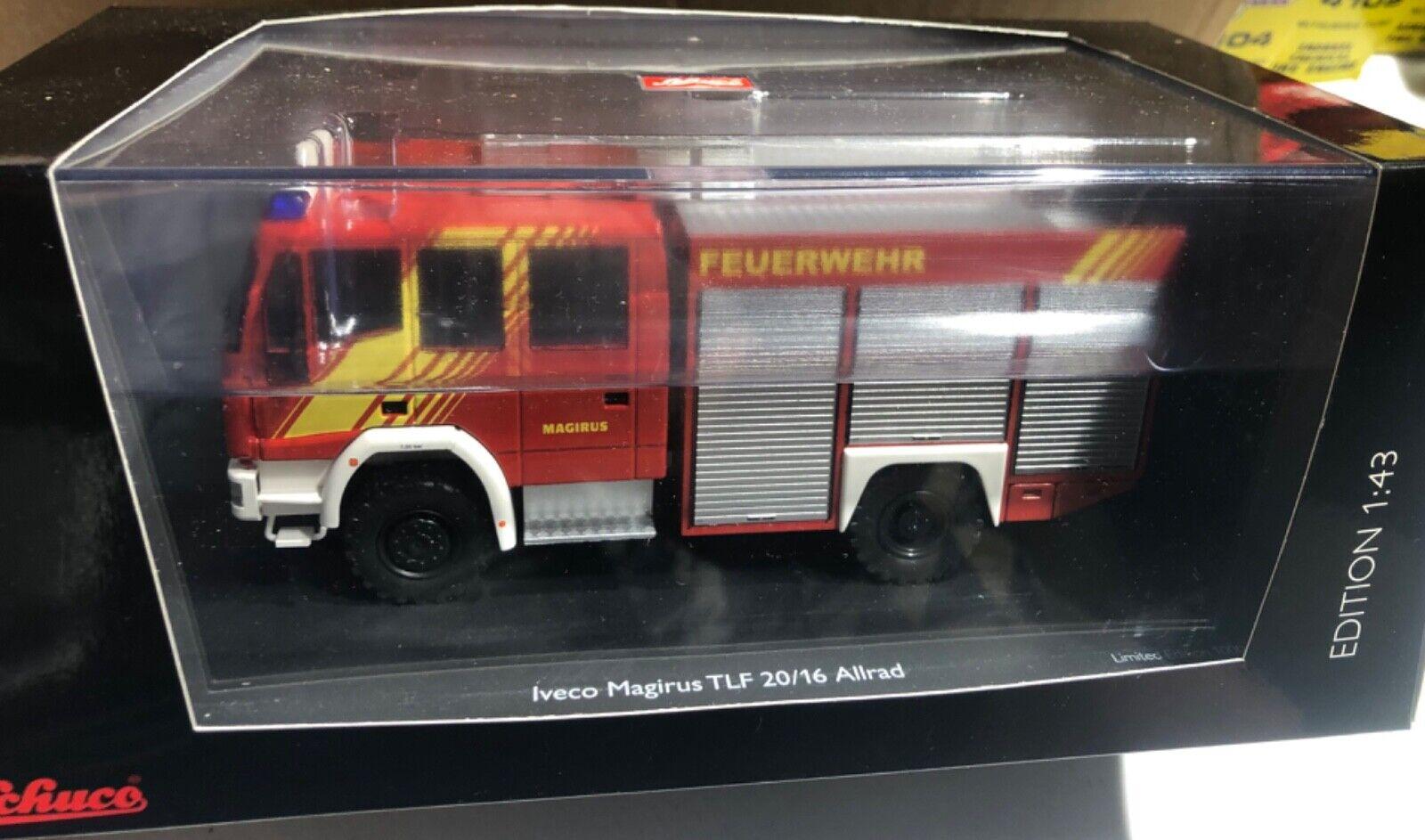 ti renderà soddisfatto Schuco Iveco Iveco Iveco Magiers HLF 20 16 Feuerwehr tuttirad 1 43 nuovo 'Sullys Hobbies'  da non perdere!