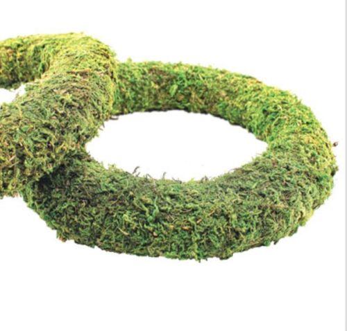 Efecto de Moss listo Acolchado corona 25cm//10 pulgadas de diámetro-Ideal festivo coronas 2 PK
