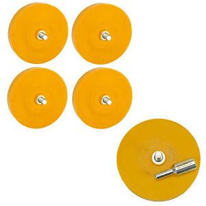 5x-Folienradierer-Klegegewichte-Entferner-Kleber-Radierscheibe-90mm-Adapter