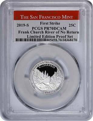 2019-S Frank Church River of No Return Silver Quarter Limited PR70DCAM PCGS Flag