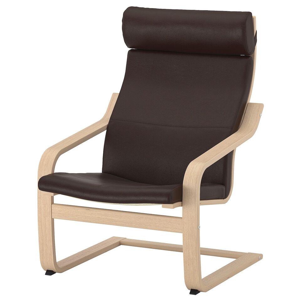 Læderlænestol, læder, IKEA