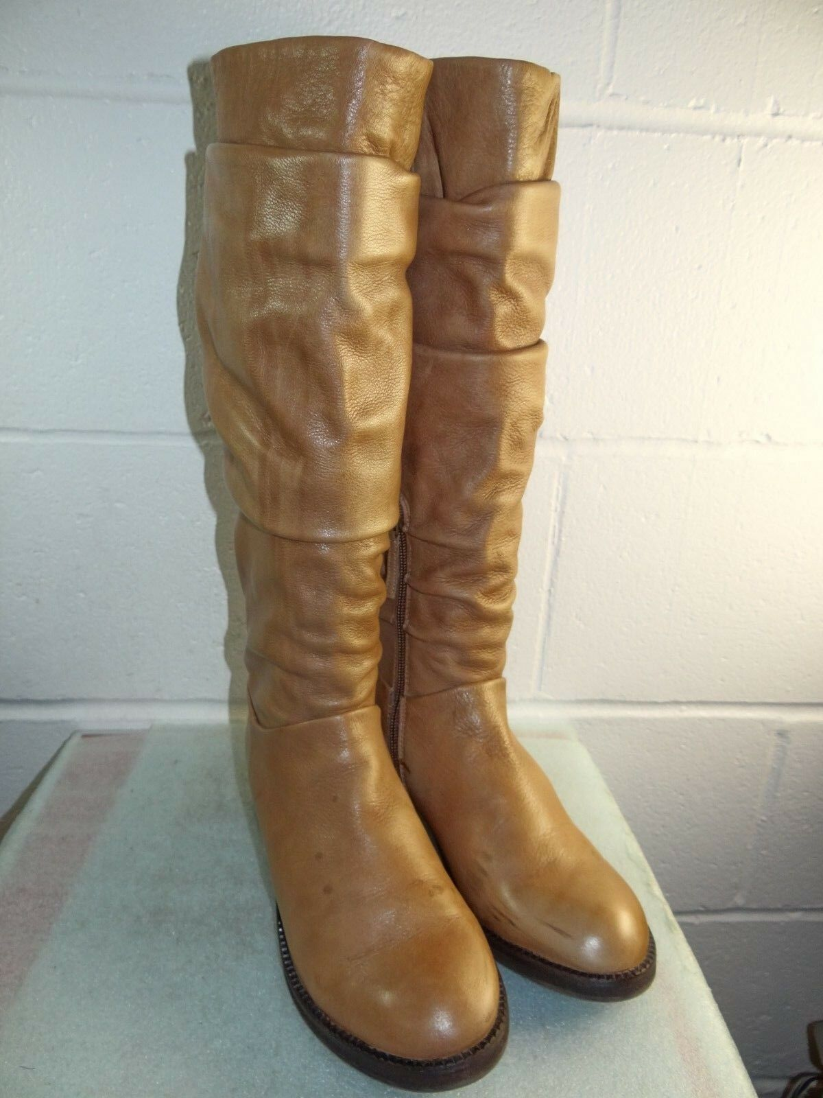 Gentle Souls 'Podential' Tan Leather Slouchy Tall Boot Women Size 7M
