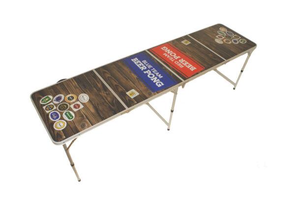 Birra Pong Tavolo, Beer Pong Table Incl. Normativo, Campeggio Tavolo, Pub Pong, 3 Delizioso Nel Gusto