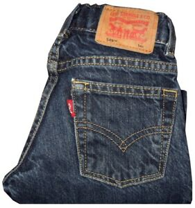 KIDS-BOYS-LEVI-039-S-549-RELAXED-STRAIGHT-DARK-WASH-BLUE-JEANS-5-REGULAR-4-5-YEARS