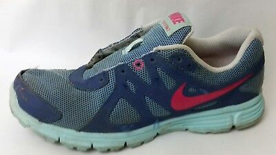 264f40421e Nike Revolution 2 Girls 4 Youth Running Shoes 555090-504 Blue Pink Navy  Sneakers