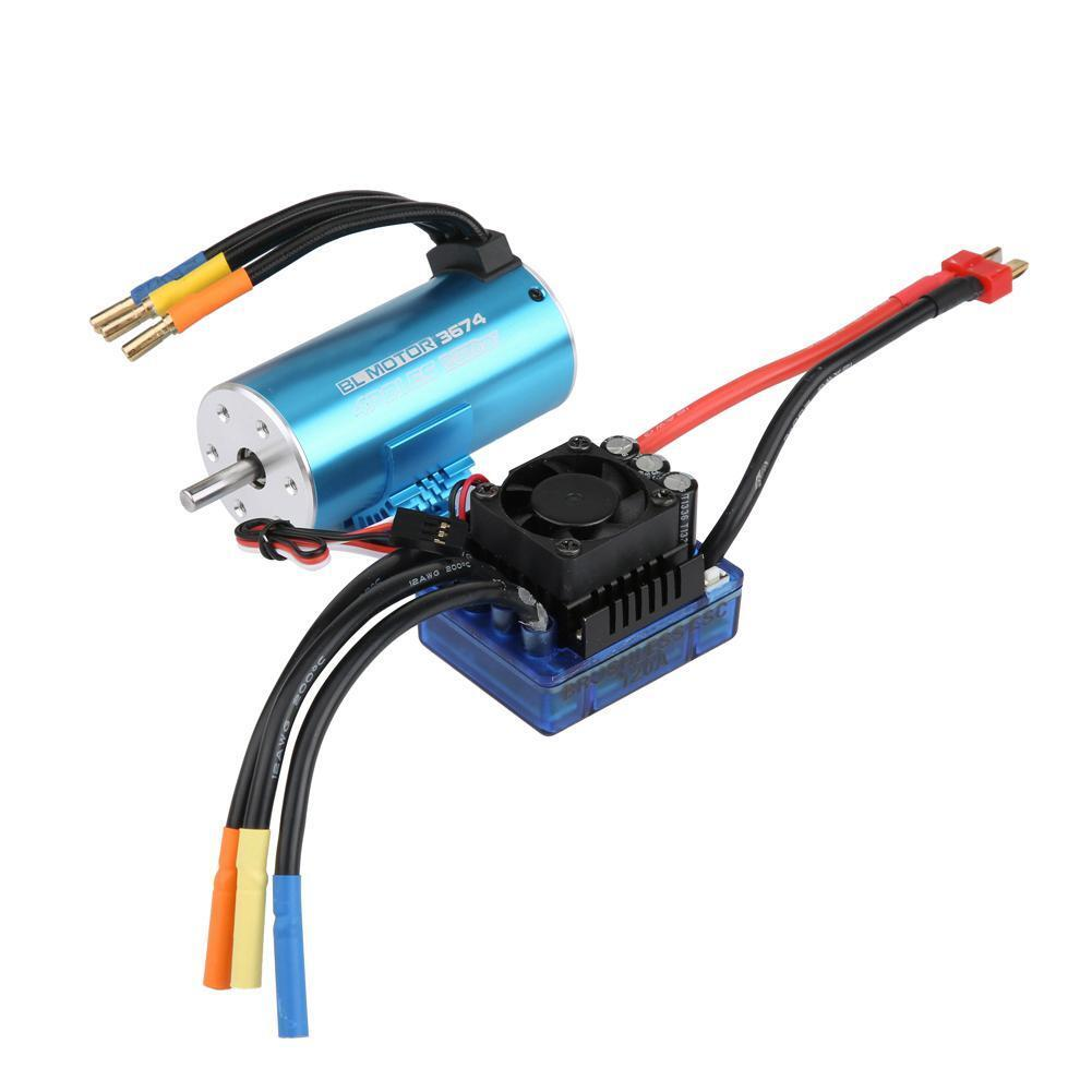 4 Pole 2250 2650KV Waterproof Brushless Motor for 1 8 1 10 Scale RC Off-road Car