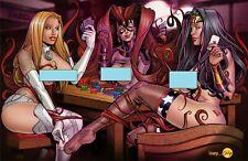 Faro's Strip Poker Lounge -- Mature Art Bundle -- 10 Pack w/ Toploaders