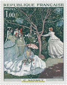 "EBS France 1972 Art: ""Femmes au Jardin"" by Claude Monet YT ..."