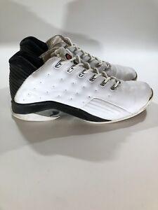 4cc1a6b26e9 Reebok I3 Men Shoe Sz 8.5 The Answer VI Mid White Black Allen ...