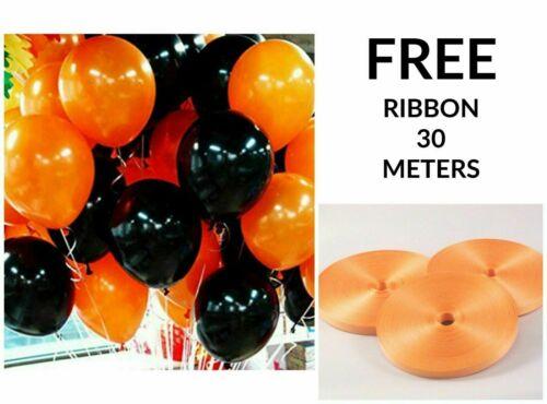 Halloween Balloons Spooky Decoration Black /& Orange Cobweb Skull Pumpkin Baloons