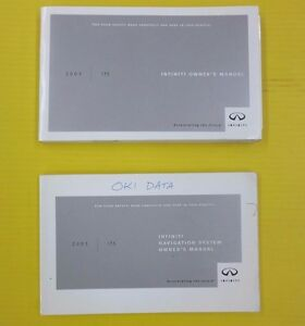 i35 03 2003 infiniti owners owner s manual set with navigation oem rh ebay com infiniti owners manual q30 infiniti owners manual q30