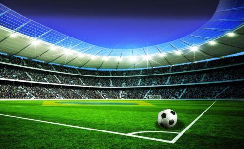 Tapeten Tapete Fototapeten Sport Stadion  Fußball Ball Fußballplatz 14N1914P4
