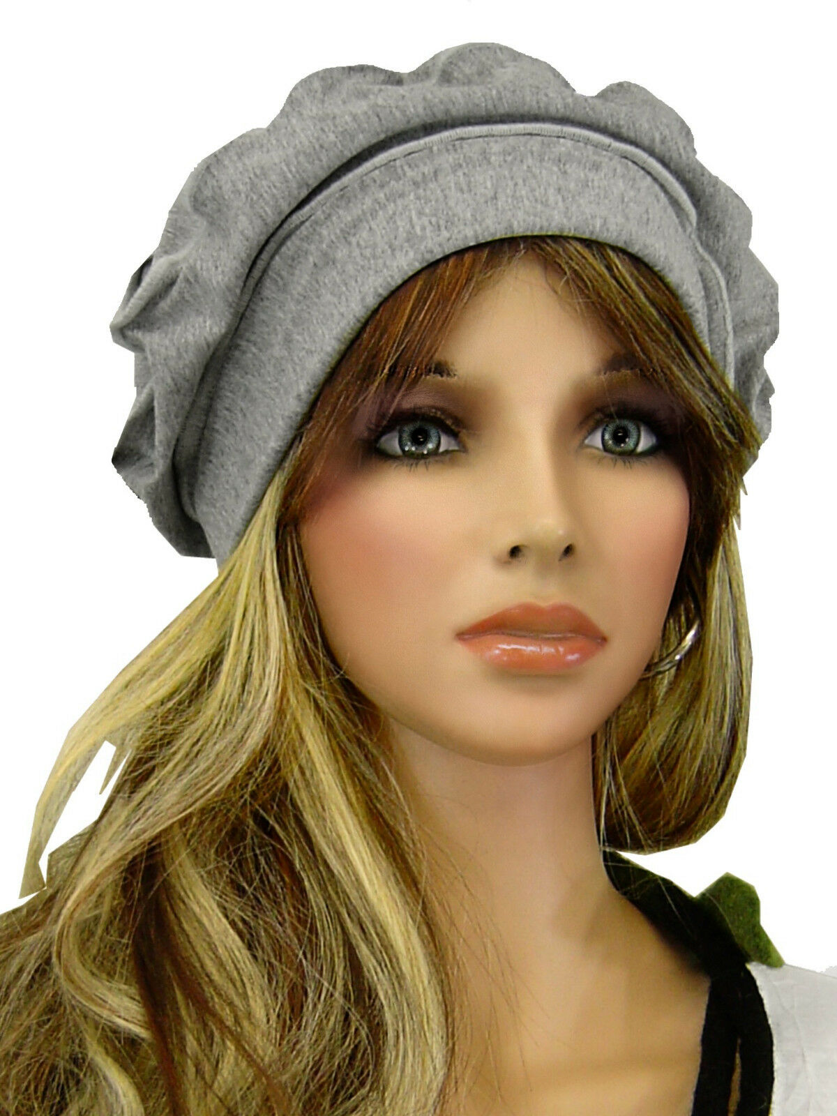 PoCo DeSiGn° LAGENLOOK Sommer-Mütze Beanie Slouch Chemo-Cap Edel-Jersey schwarz