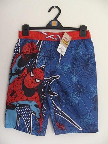 Ex-store Marks /& Spencer  11-12 /& 13-14 years Marvel Spiderman swim shorts NEW