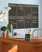 Chalkboard Panels 4 Wall's Slate Gray Black Board Chalk Wall Mural Sticker Decal