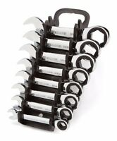 Stubby Ratcheting Combination Wrench Set With Store And Go Keeper Inch/sae 8-pc.