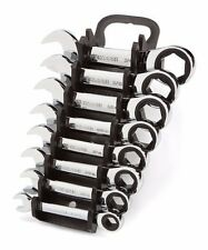 TEKTON WRN50066 Stubby Ratcheting Combination Wrench Set with Store