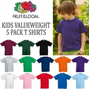Fruit of the Loom Boys Girls Performance T-Shirt Kids' Clothes, Shoes & Accs.