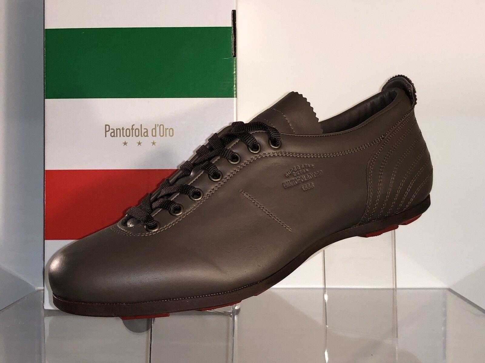Pantofola D 'oro PDO cortos sl17u VILLO cuero marrón Superstar low