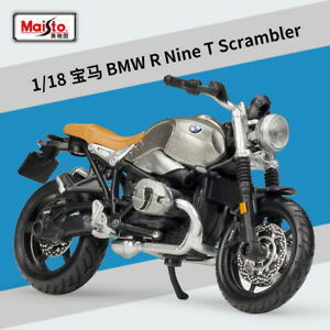 1 18 Maisto Bmw R Nine Motorcycle Bike Model Toy Silver Ebay