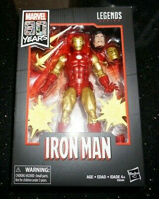 "Marvel Legends 6/"" 80th Anniversary Comic Book TONY STARK IRON MAN NEW IN STOCK"