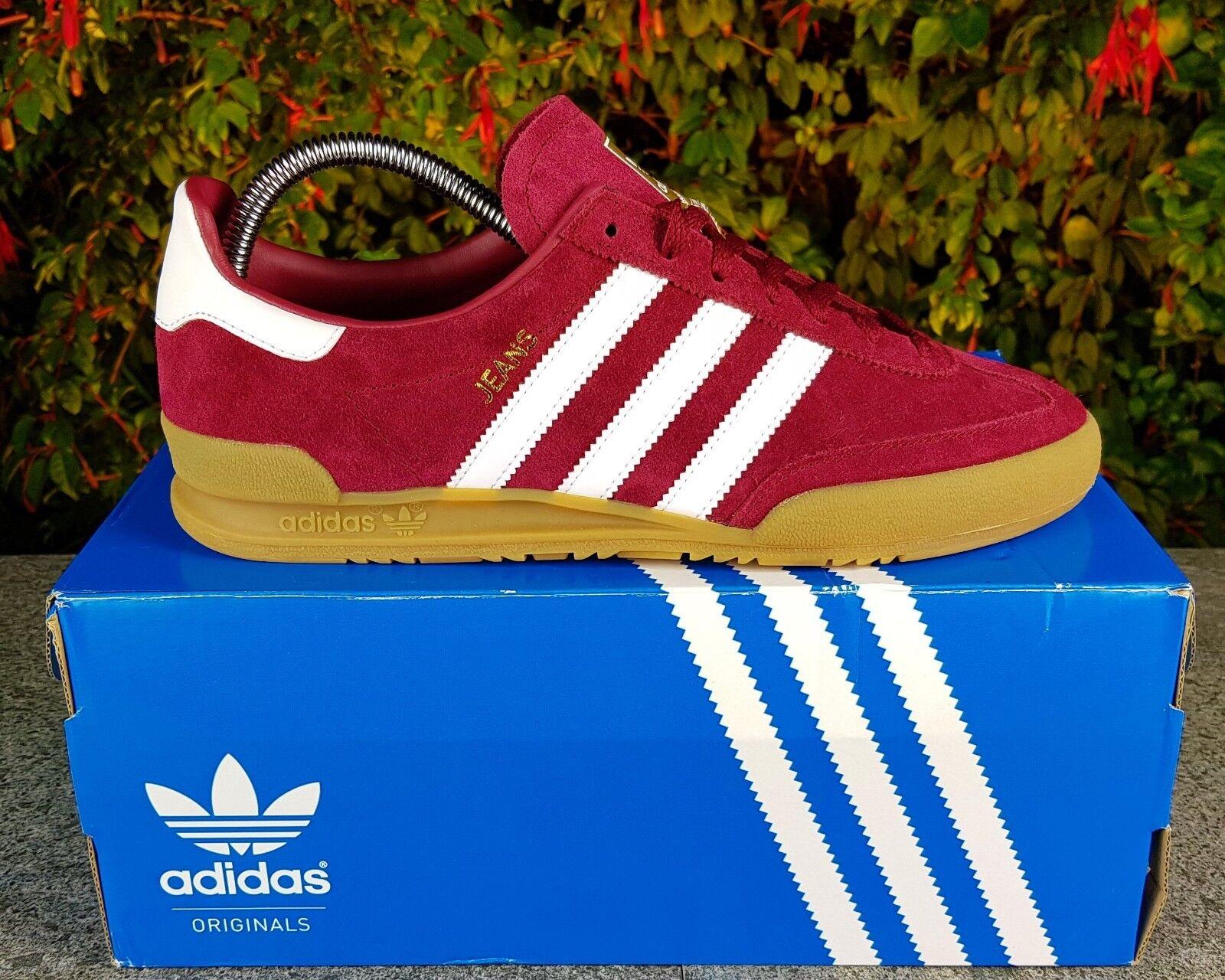BNWB Originali Adidas Originals Jeans MkII Mk2 Mk2 Mk2 Borgogna in pelle scamosciata scarpe da ginnastica | Moderno Ed Elegante A Moda  | Scolaro/Signora Scarpa  62c20c