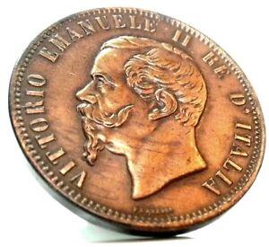 a157db8a24 Vittorio Emanuele II (10 Centesimi 1866) MILANO | eBay