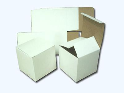 50 White Solidboard  Cartons  125 x 125 x 125 mm