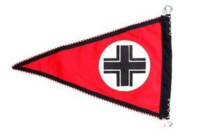 GERMAN-ARMY-HEER-BALKAN-CROSS-VEHICLE-PENNANT-FLAG-BANNER-ALL-COTTON-WHERMACHT